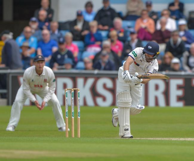ONE DOWN: Adam Lyth, who was the only Yorkshire wicket to fall on day three of Yorkshire's County Championship Division One match at Surrey. Picture: Ray Spencer