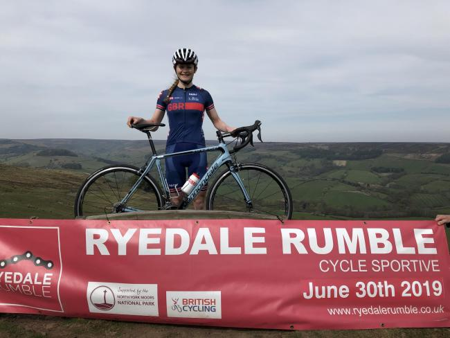 Ryedale Rumble Ambassador Abi Smith, who is a former pupil at Ryedale School and now a member of the GB cycling team
