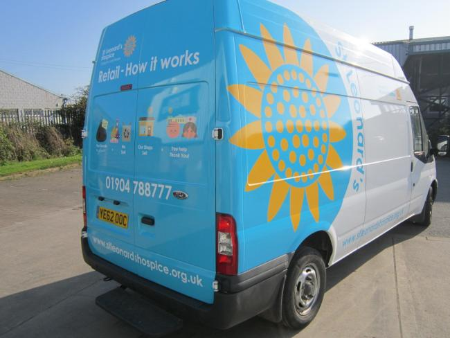 This van belonging to St Leonard's Hospice in York has been stolen from their car park